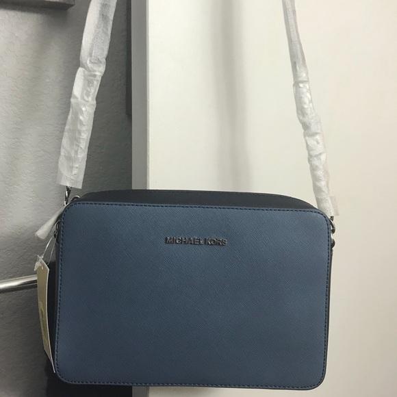 9338c6129e83 Michael Kors Bags | Blue Denim Admiral Crossbody | Poshmark
